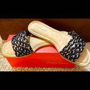 NIB-Pierre Dumas Braided Slide Sandal